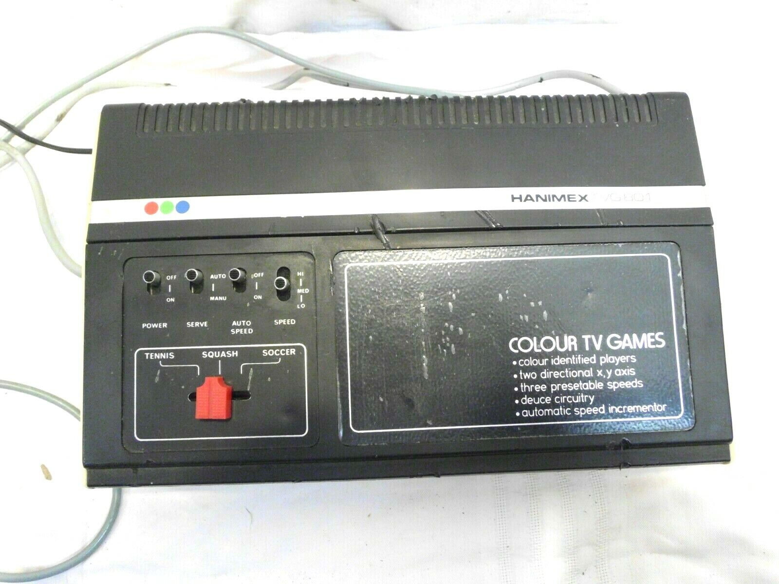 Spielkonsole Hanimex TVG 801 für 2 Spieler Colour Video TV 70er 80er Jahre
