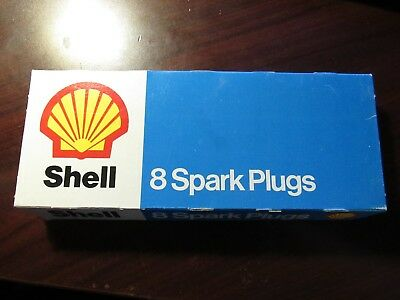 Vintage Shell Oil Company S-17RT Spark Plugs - Box of 8