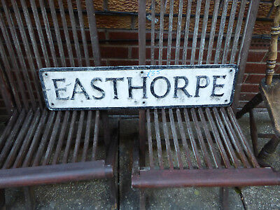 Antique cast Street Sign Easthorpe Southwell Nottinghamshire