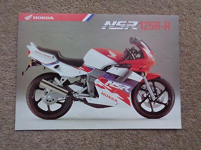 GENUINE ORIGINAL RARE 1996-2001 HONDA NSR125R-R MOTORCYCLE BROCHURE NSR