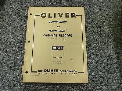 Oliver Model Bgs Cletrac Crawler Tractor Dozer Parts Catalog Manual Book