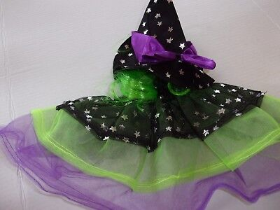 Starry Witch dog costume Petco halloween S/M L/XL with hat tulle tutu - Halloween Costumes With Tulle
