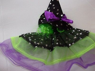 Starry Witch dog costume Petco halloween L/XL with hat tulle tutu