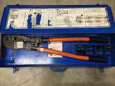Tb Thomas Betts Tbm8s Wire Cable Crimper - With Dies Case