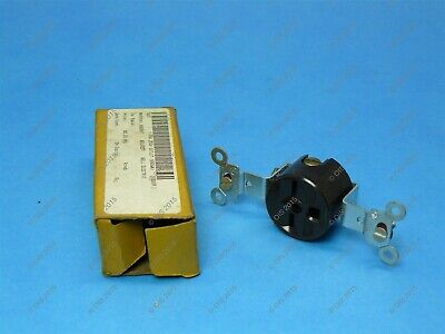 Hubbell 5651 Single Flush Brown Outlet Nema 6-15r 2 Pole3 Wire 15a 250v New