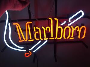 Marlboro tobacco advertising real NEON sign