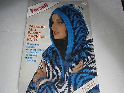 1987 Forsell Fashion & Family Machine Knits Knitting Pattern Magazine 27 Designs