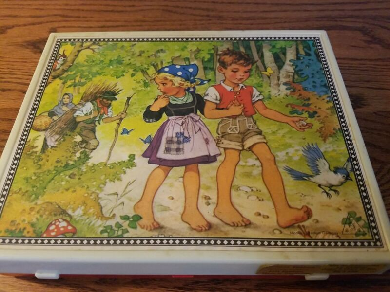 Hermann Eichhorn West Germany With Lithos 6 Sided Block Puzzle Case