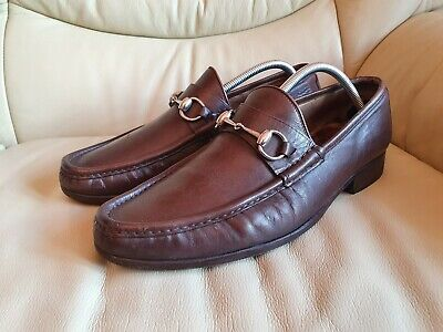 Gucci Vintage Mens Brown Shoes Horsebit Loafers UK  10     US 11   EU 44