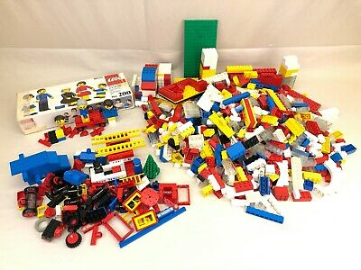 Lego Partial Set #200 Three Piece Figures Various 1970s Blocks Lot Over 6 Lbs