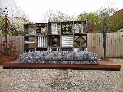 Original Monumental Adrian Pearsall Cloud Platform Sofa Mid Century Modern