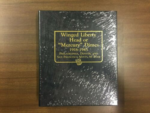 Whitman Classic Coin Album # 9118 For Mercury Dimes From 1916-1945