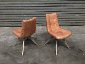 NEW LEATHER CHAIRS: DOC GOLDEN COLOUR LEATHER TASTEFUL DESIGN Leumeah Campbelltown Area Preview
