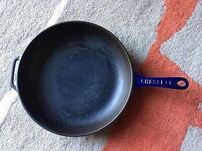 CHASSEUR Blue Enamel Cast Iron Frying Pan Invicta Made in France Chasseur Cast Iron Fry Pan