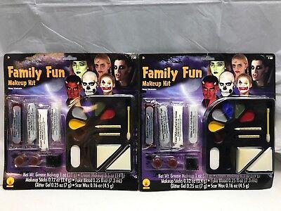Halloween Makeup Kit Cream Tray Sticks Costume Blood Glitter Scar Wax 2 Pack (Halloween Makeup Wax)