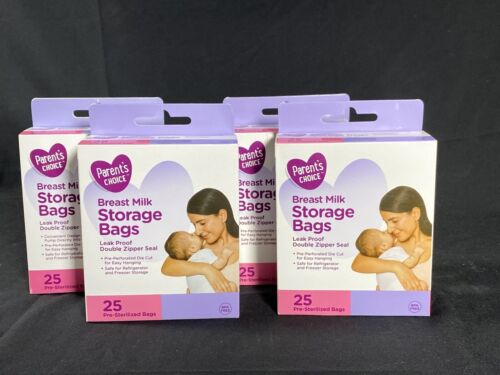 Parent s Choice - Breast Milk Storage Bags - 25 Bags - BPA Free Lot Of 4 - $16.00