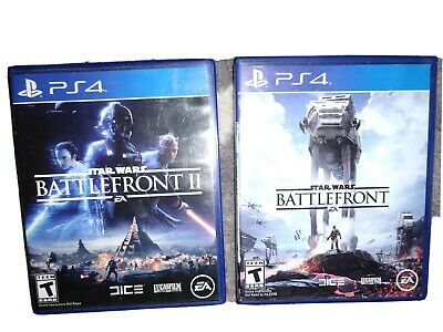 Star Wars Battlefront 1 + 2 PlayStation 4 PS4 2 Game Lot Set I and II