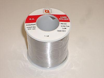 Qualitek Ra300-sn60-032a .032 Dia 6040 2.2 Flux Rosin Core Solder 1-lb Spool