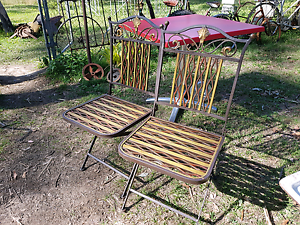 Metal folding outdoor chairs $30 each Joyner Pine Rivers Area Preview