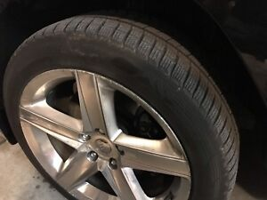 4 x 2007 Jeep srt8 rims and winter tires!!!