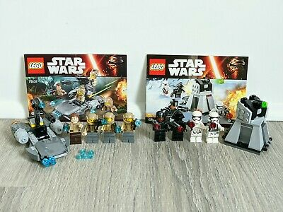 Lego Star Wars 75131 Resistance Troopers & 75132 First Order Battle Packs