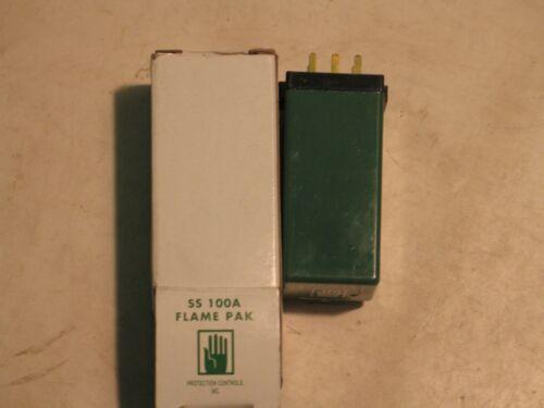 NIB PROTECTION CONTROLS SS100 A FLAME PAK RELAY P6126