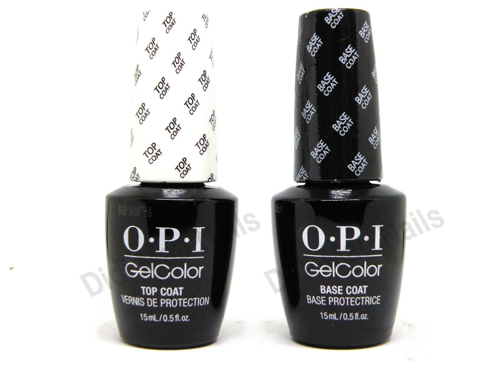 OPI Gelcolor Soak off Gel Top & Base Coat 0.5 oz / 15 ml eac