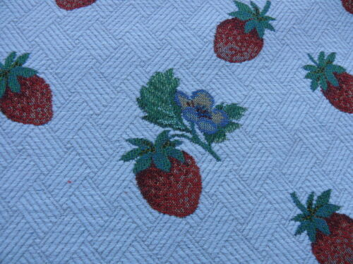BY YARD SCALAMANDRE FRAGOLETTA FH-WHITE STRAWBERRY LAMPAS RED WHITE heavy!