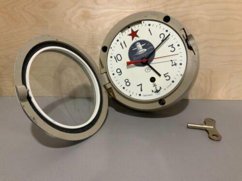 Vintage Russian Soviet CCCP Kauahguyckue Maritime Submarine Clock with Star