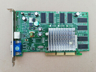 vintage Leadtek LR2969 nvidia Geforce FX5500 AGP8x 256MB LR2960