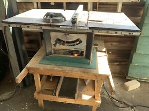 Older sears Craftsman table saw.