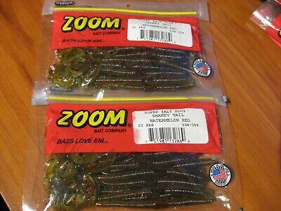 """Soft Plastics Lot Preferred Plastics Red /& Black Qty 10 14/"""" Ribbon Tail"""