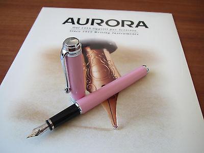 Aurora Talentum Finesse pink 14kt gold Stub nib fountain pen MIB