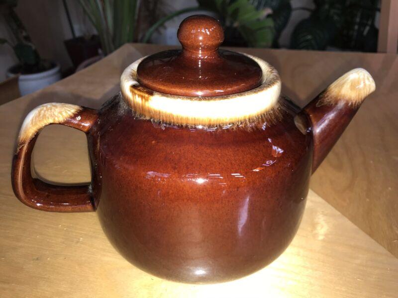 Vintage McCOY Pottery Brown Drip Teapot #163 Marked McCoy USA On Bottom