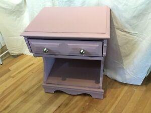 Single bedside table purple