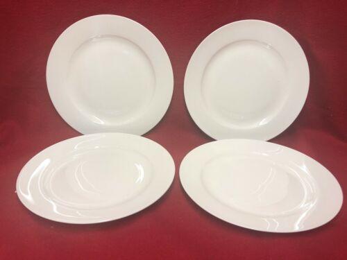 White+Bone+China+Set+of+4+Plates+20+cm