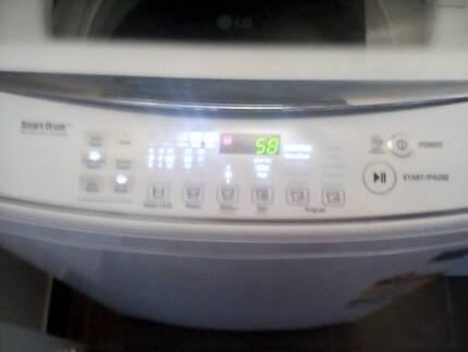 Lg direct drive 7.5 kilo top loader washing machine