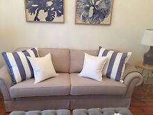 DESIGNER HAMPTONS 3 SEATER LOUNGE VERY NEW, PERFECT CONDITION! Glenelg South Holdfast Bay Preview