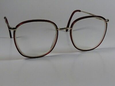 Anne Klein II L 2015 Eyeglass Frame Handmade Red Women Rx 50[]19 145mm Italy