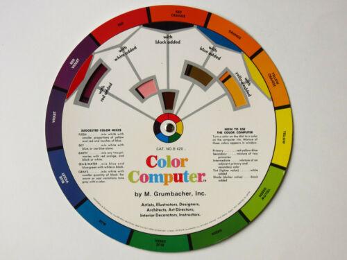 Vintage M. Grumbacher Color Computer - Color Harmony Wheel 1977, B420