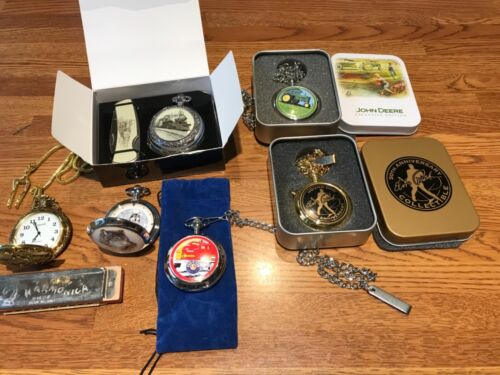 Lot 8 Lionel Regent Westminster Avon Elvis Presley John Deere pocket watch