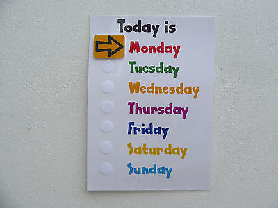 Early Learning Days Of The Week Chart - EYFS / Autism / Non Verbal