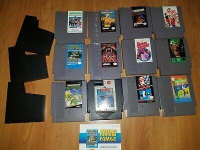 Nintendo Nes Original Console , 12 Games & 1 Controller Lot