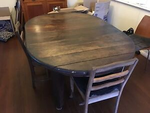 Silky Oak Table Very Old & 8 Chairs Manoora Cairns City Preview