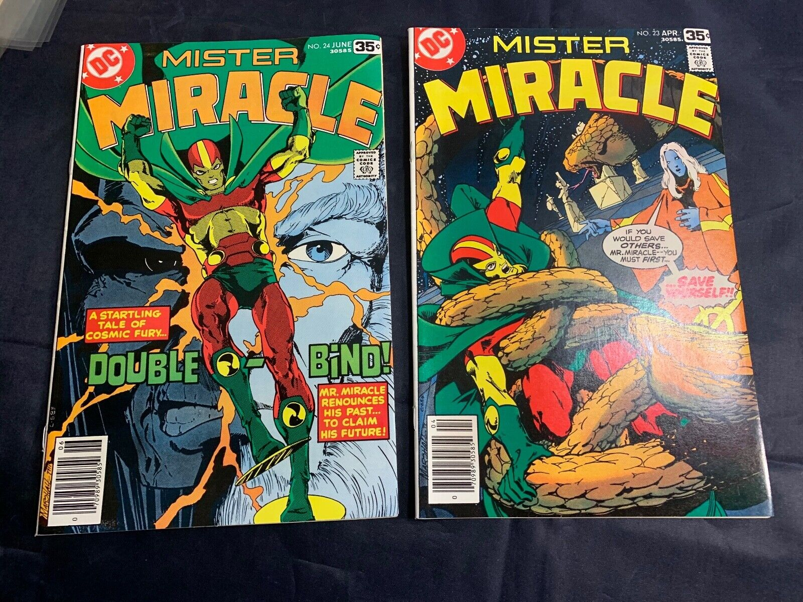 DC COMICS THE LONG AWAITED REURN OF MISTER MIRACLE ISSUES 19 - 24 LOT OF 6 COMIC - $39.99