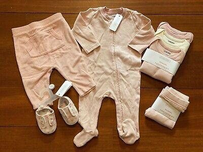 Gymboree Baby Girl Layette 8 Piece Set Pink & White 3-6 Months NWT