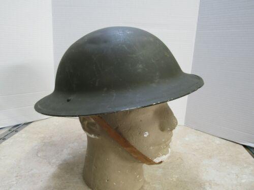 British WW2 Brodie Doughboy Helmet Greek Lend Lease 1942 Dated