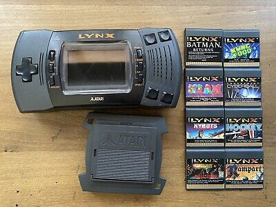 Atari Lynx II  Handheld System W/ Screen Protector And 8 Games