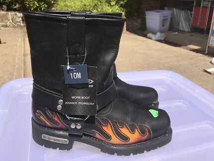 Brand New Mens Leather Motorbike Boots