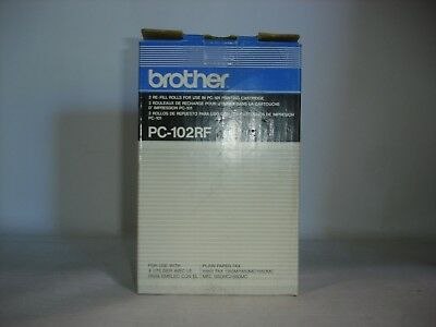 Genuine OEM Brother Black Refill Rolls for PC-101 Printing Cartridge (PC-102RF)